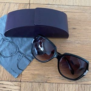 Oliver Peoples Guiselle Sunglasses Black & Silver